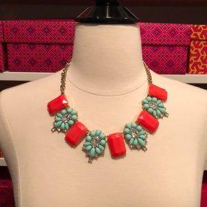 Jcrew necklace - orange and teal